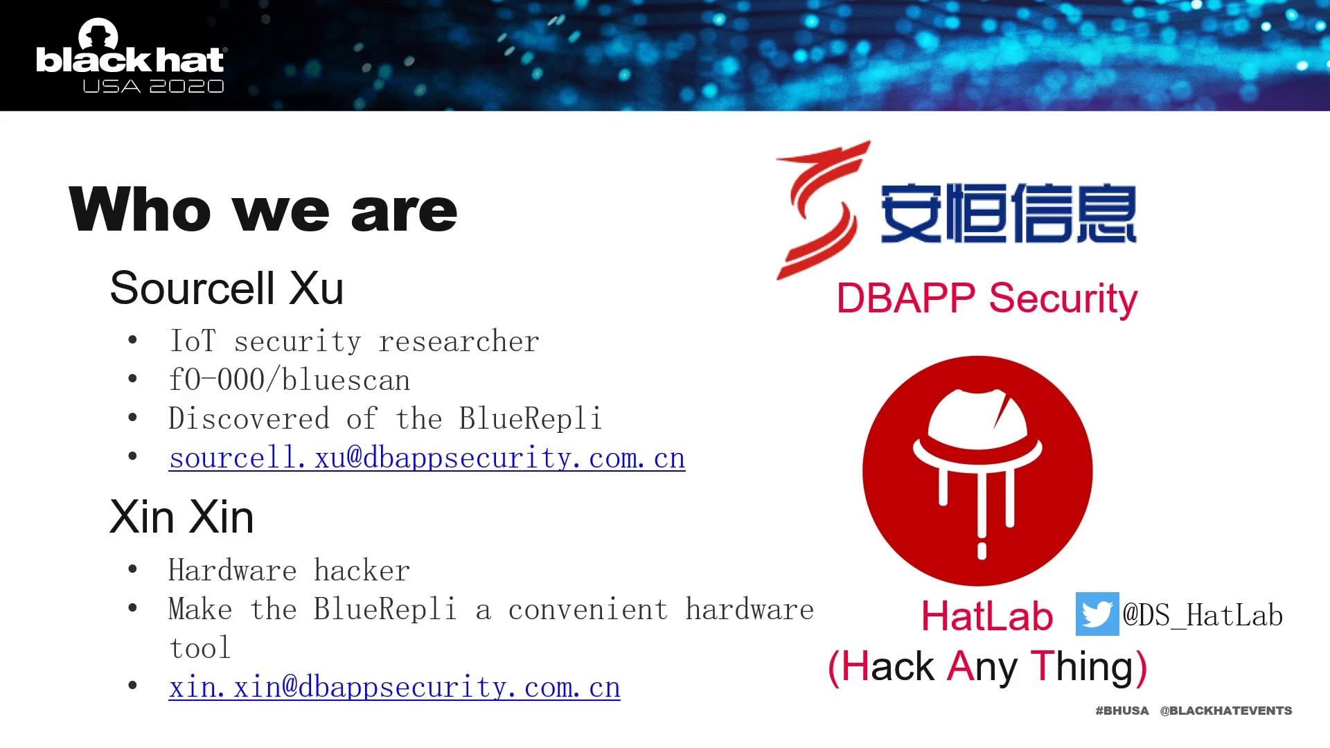 安恒信息再登全球Black Hat大会,公布蓝牙漏洞窃取Android用户隐私研究
